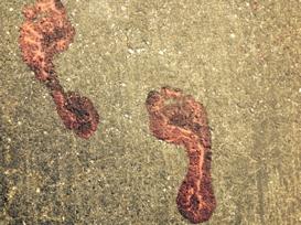 pink feetprints