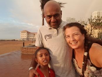 Sri Lanka man with grandson