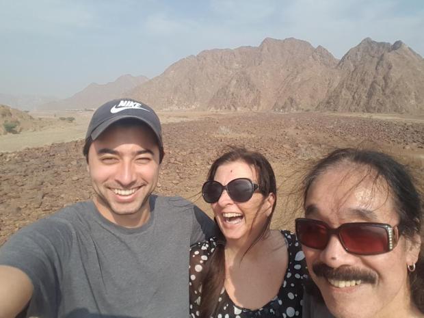 sam isaiah and me in wadi